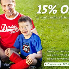 Father's Day Promotion: receive 15% off all men's products