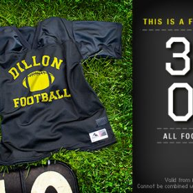 There's No Skin Like Pig Skin: 35% Off Football Jerseys!