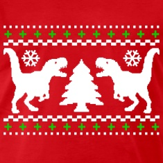 Ugly T-Rex Christmas T-Shirt