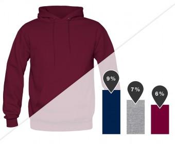 Men's Standard Hoodie in navy, heather gray and burgundy