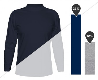 Men's Long Sleeve T-Shirt in navy and heather gray (outside of black and white, this product is currently only available in these two other colors)