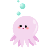 cute pink octopus cartoon - photo #3