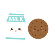 Image result for cookies and milk cute