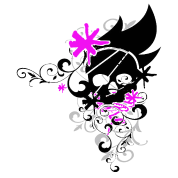 Flower skull pink by tairn spreadshirt flower skull pink mightylinksfo