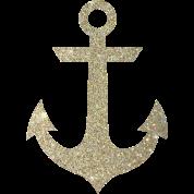 Gold Anchor By Delyssajoy