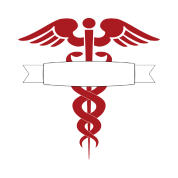 red caduceus nurse or doctor medical symbol tshirt