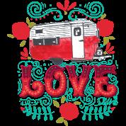 Vintage Camper Love By
