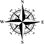 Design Details Compass Rose Black White