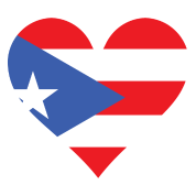 Puerto Rican Flag Heart