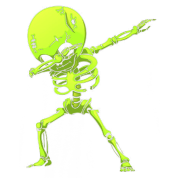 dabb dance. dabbing skeleton halloween neon green dab dance dabb