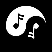 Yin Yang Music Note Cool Chinese Tai Chi Symbol