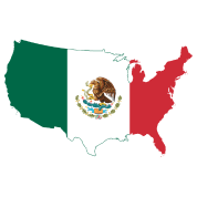 tee shirt flag map of the united states mexico