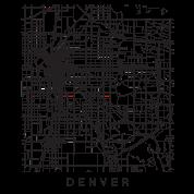 Denver CO Minimalist City Street Map Dark Design by andrewkgolf ...