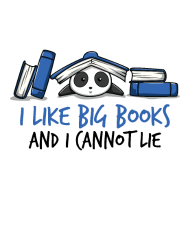 Big Books Funny Quote Gift Nice Reading Panda Cute