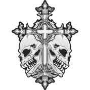 Gothic Cross With Skulls