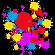 Spray Paint Splatter Multi Color Graffiti Graphic T-Shirt ...