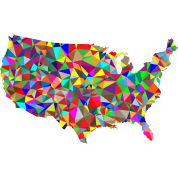 Flat Color Low Poly America USA Map TShirt Spreadshirt - Color in usa map