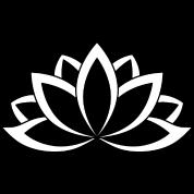 Black and white buddhist symbol lotus flower by dimkadnb spreadshirt black and white buddhist symbol lotus flower mightylinksfo