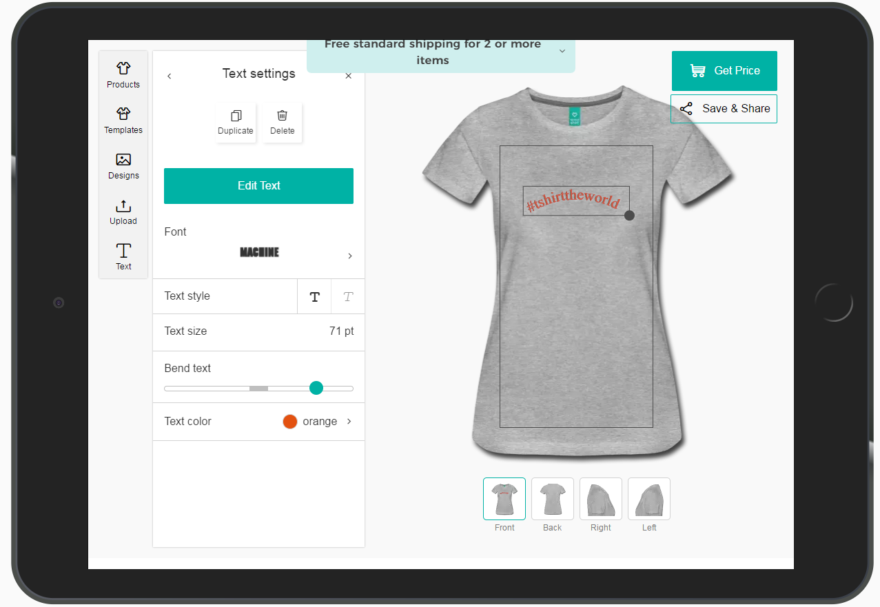 29282300 The improved design tool is the newest technical feature of Spreadshirt's  create-your-own business unit, it has been very well received by global  customers ...