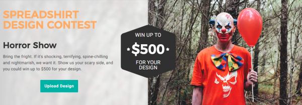 Spreadshirt horror design contest